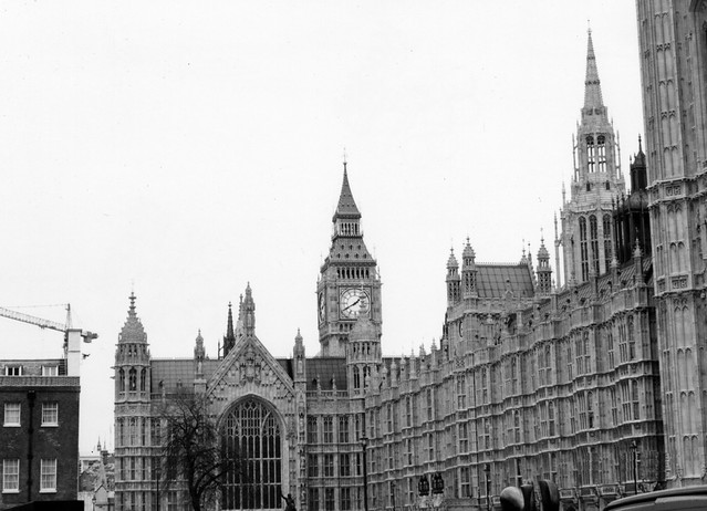 london big ben bw