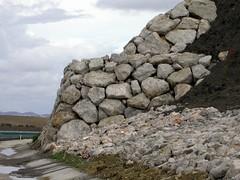 construccion, de, muros, de, piedras, contencion, escollera, colocada, ventajas