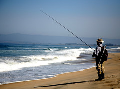 beach, sand, fishing, sea, recreation, casting fishing, outdoor recreation, recreational fishing, surf fishing, wave, shore, coast, fisherman,