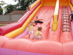 Inflatable slide, Rowntree Park York