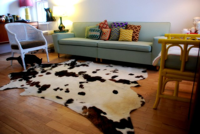 Finally bought a cowhide rug!