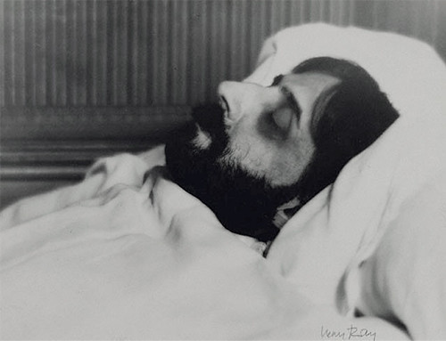 proust-on-his-deathbed by Man ray
