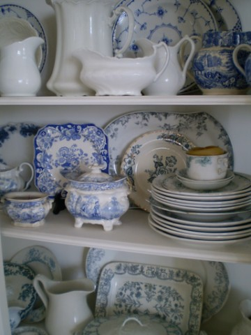 Ironstone and Blue Transferware Collection