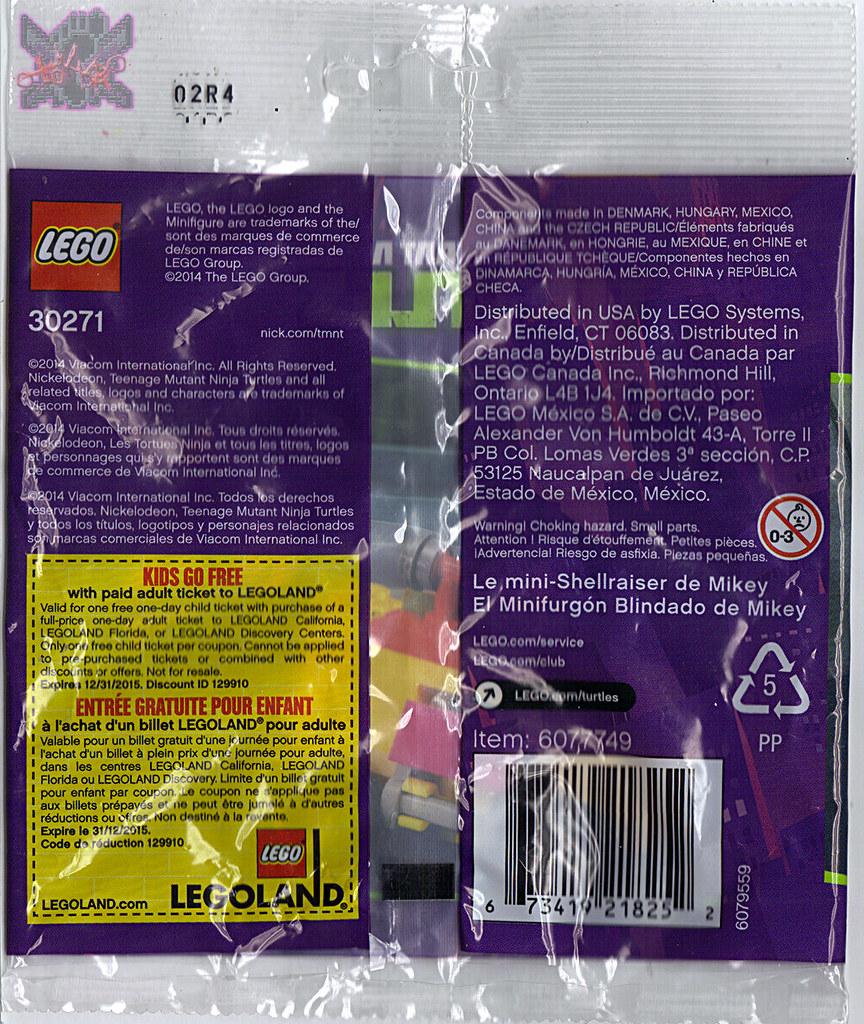 "LEGO TEENAGE MUTANT NINJA TURTLES :: ""Mikey's Mini-Shellraiser"", ..bag ii  (( 2014 )) by tOkKa"