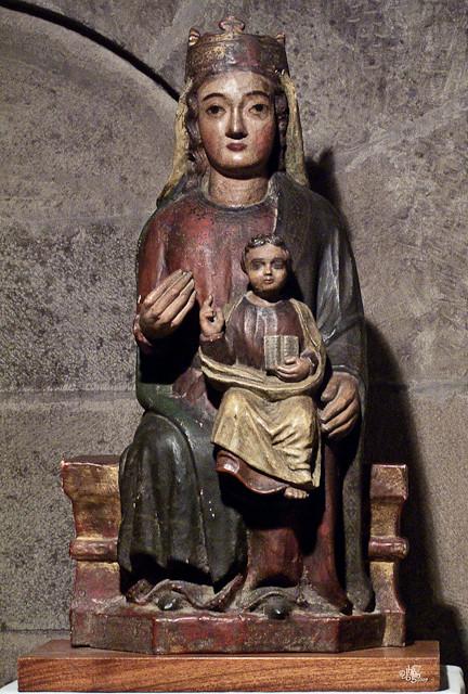 Santa María la Real, Sangüesa, Virgen sedentre.