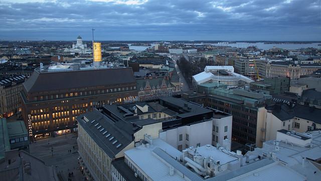 Anochecer en Helsinki