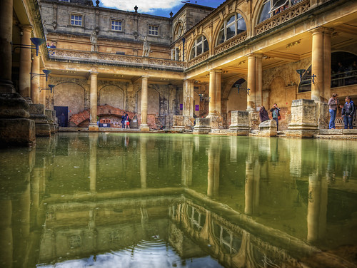 The Great Bath, in Bath, U.K.