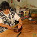 Cutting Slices of Chocolate - Xela (Quetzaltenango), Guatemala