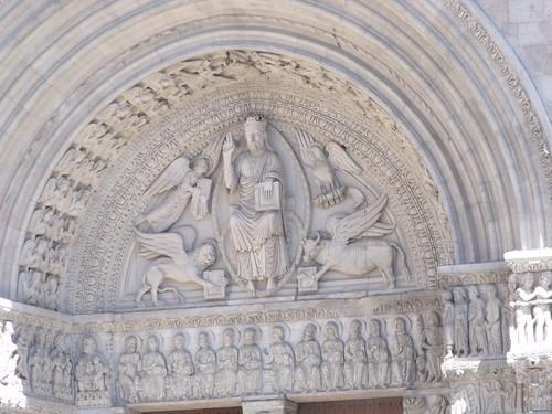 Saint Trophime Church - Place de la Republique, Arles - triumphal arch - - The Last Judgement