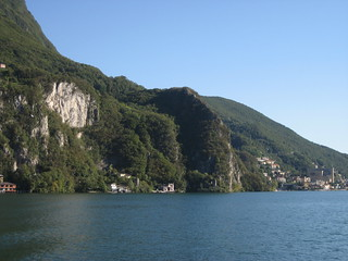 Cliffs on Lake Lugano