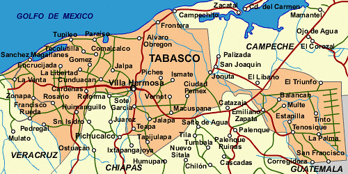 State Mexico Map.State Of Tabasco Mexico Map This Is A Map Of Tasbasco Flickr