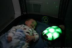 sequoia and his new turtle night light    MG 7811