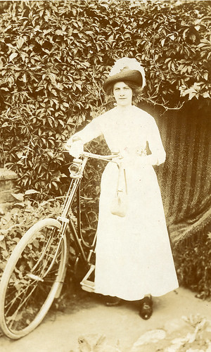 Edwardian lady with her bike