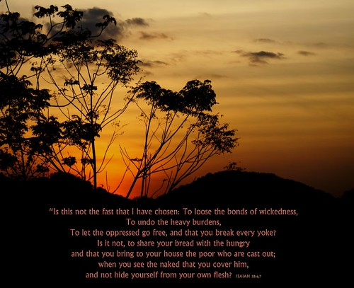 Bonds Loosened! Isaiah 58:6,7