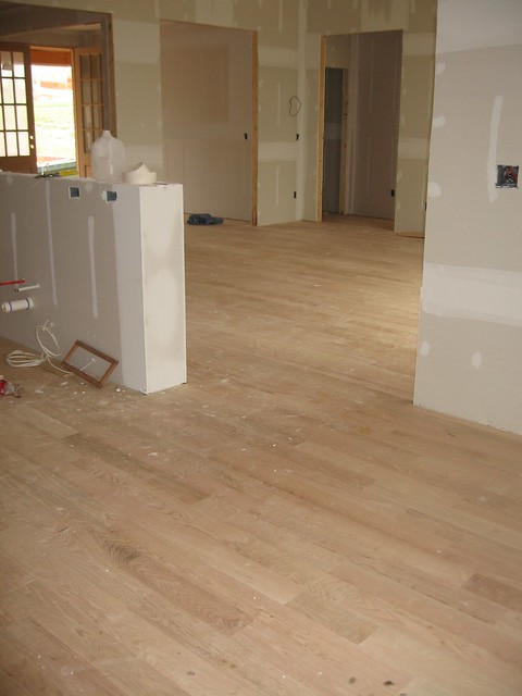 Unstained hardwood floors in kitchen flickr photo sharing Unstained hardwood floors