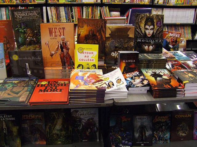 bande dessinee in Parisian bookstore