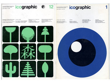 1970s Icographic Magazine covers
