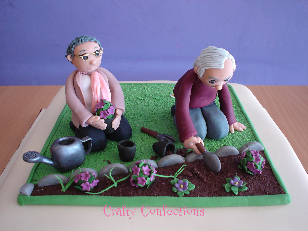 80th Birthday Garden Cake Topper