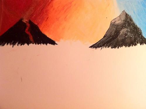 mountains volcano