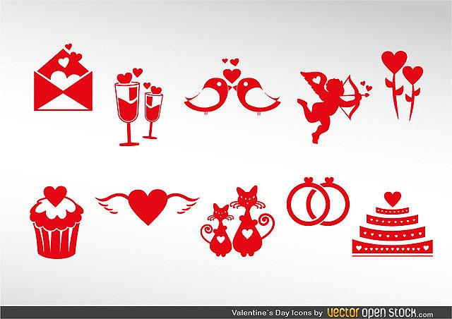Valentine's Icon Set fresh best free vector packs kits