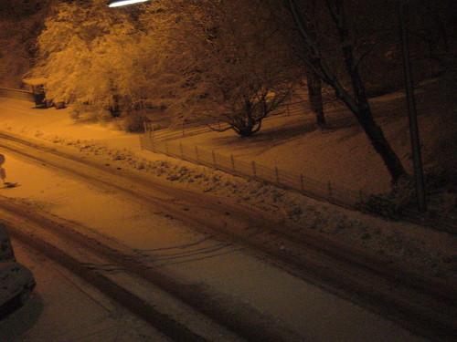 Schnee morgens