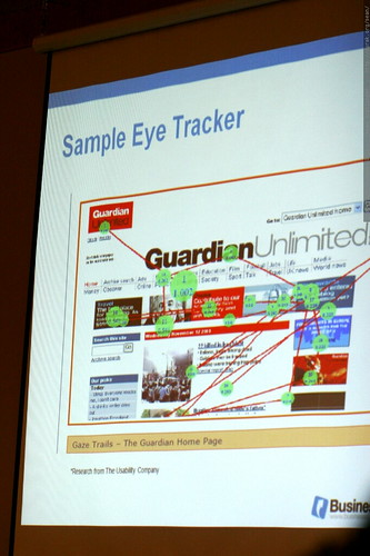 eyetracking slide from aaron kahlow's presentation at sempdx searchfest 2008    MG 0140