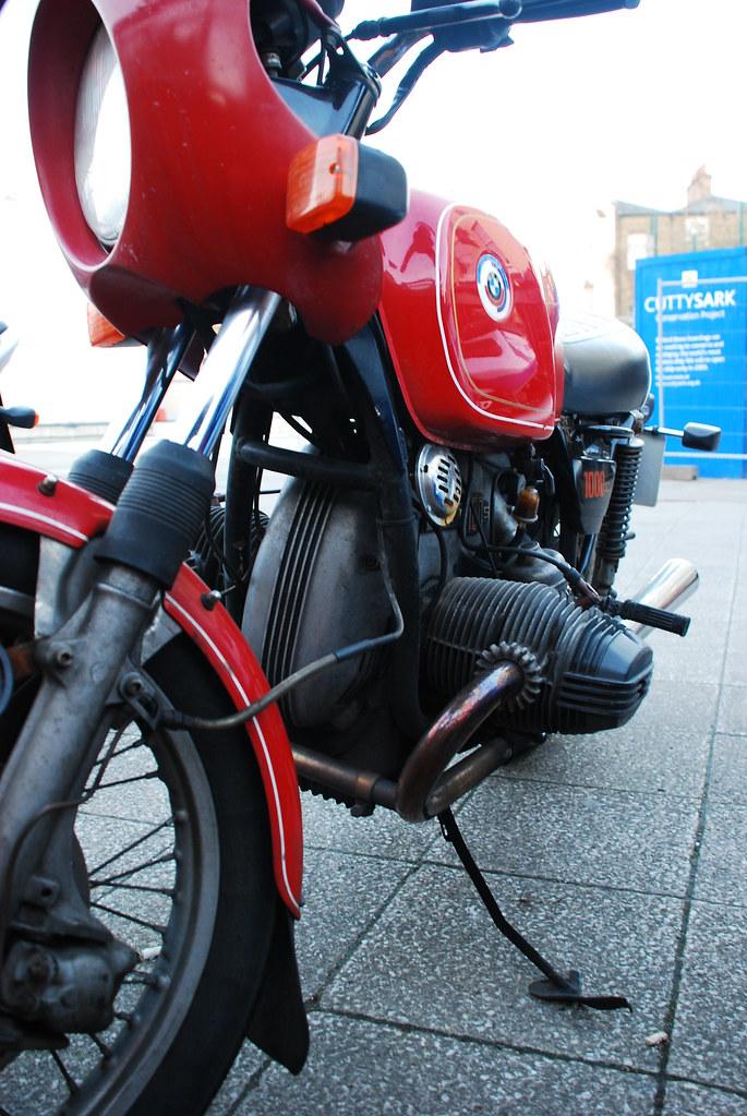 Old BMW Bike in Greenwich ,London, Mar 2008 | screenjunky | Flickr