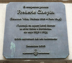 Photo of Frédéric Chopin black plaque