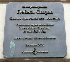 Photo of Frédéric François Chopin black plaque