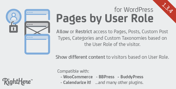 Pages by User Role for WordPress v1.3.4.76510