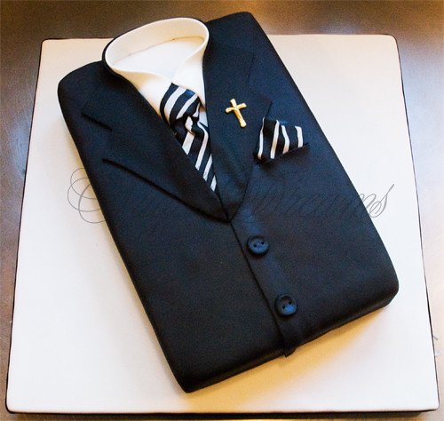 Suit Confirmation Cake For A Young Man Thanks For