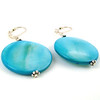 ocean blue disc earrings