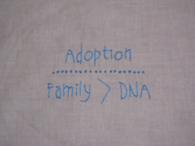 Adoption embroidery