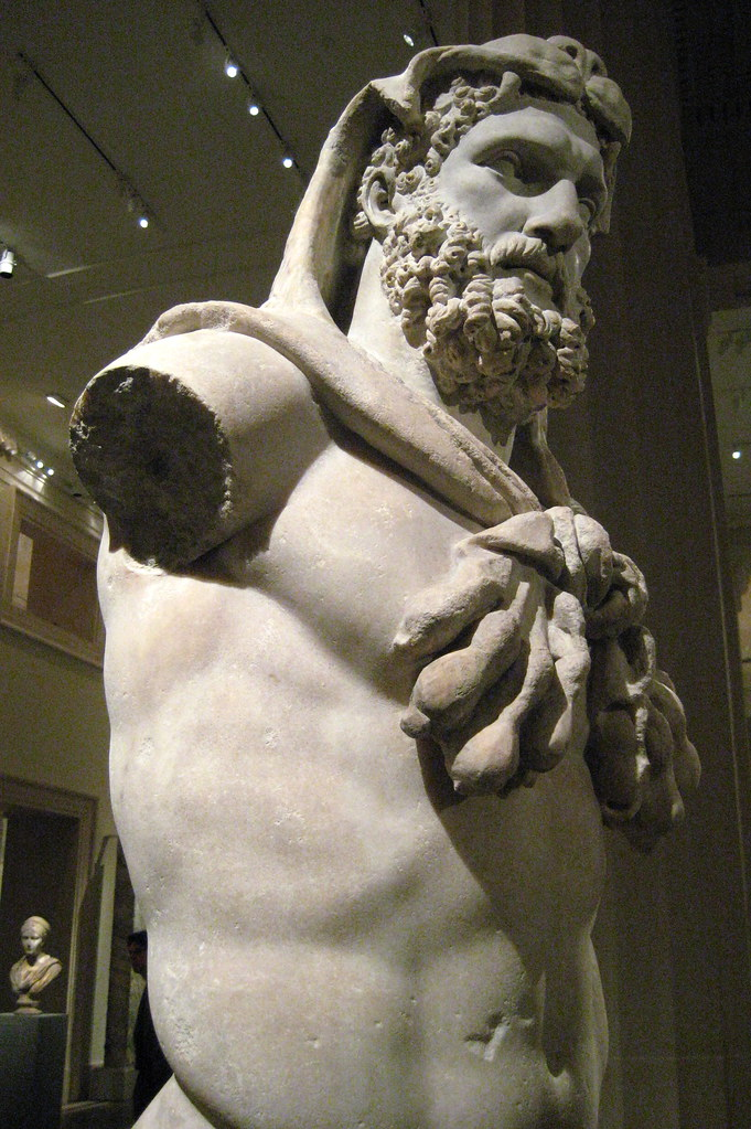 Nyc Metropolitan Museum Of Art Statue Of Bearded Hercu