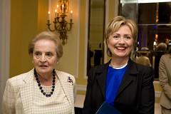 Madeleine Albright and Senator Hillary Clinton