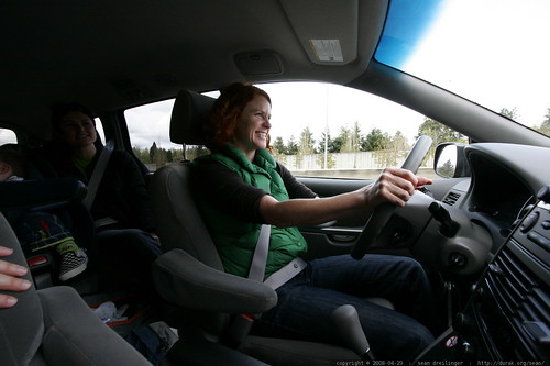kathy driving her eight passenger minivan    MG 1727