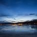 Just after sunset over the frozen Lake Balaton, Hungary