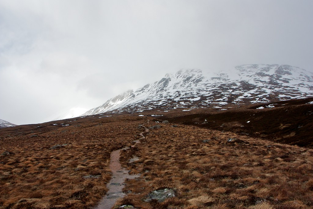 The Glen Dee track below Carn a' Mhaim