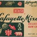 A No. 1 - Lafayette Mixed delicious gum candy box - 1940's
