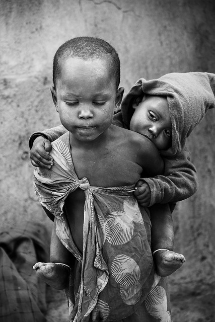 child poverty in Africa - Masai tribe, Tanzania