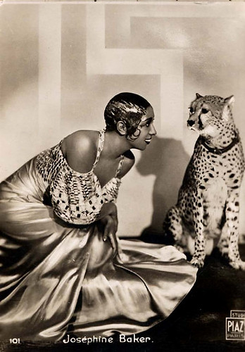 Josephine Baker with Her Cheetah, c.1930-32