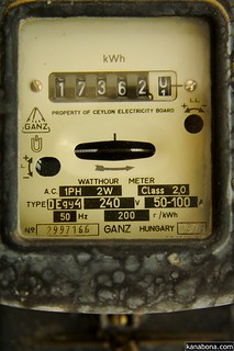 single phase ceb energy meter from 1979