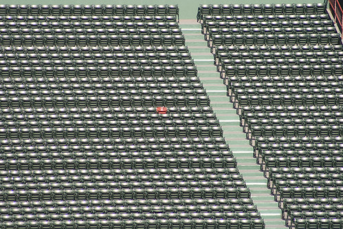 one red seat
