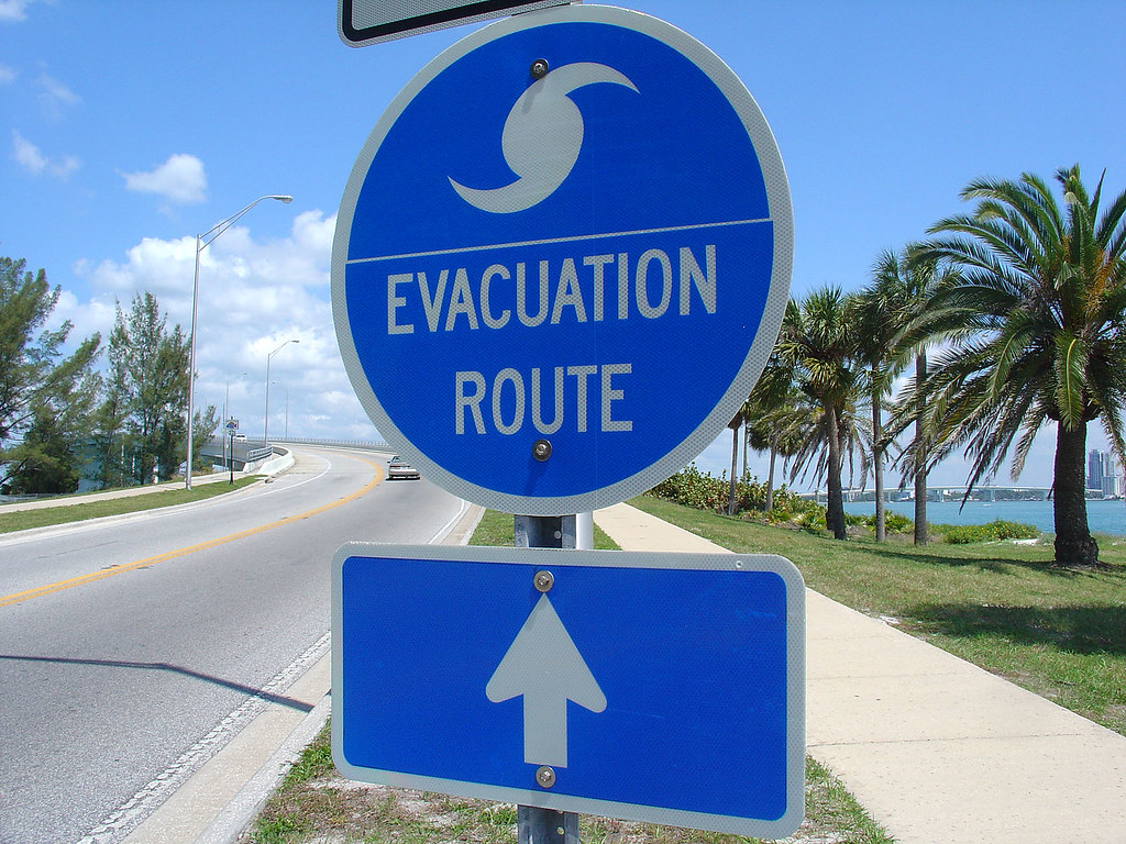 Evacuation Route sign in Florida
