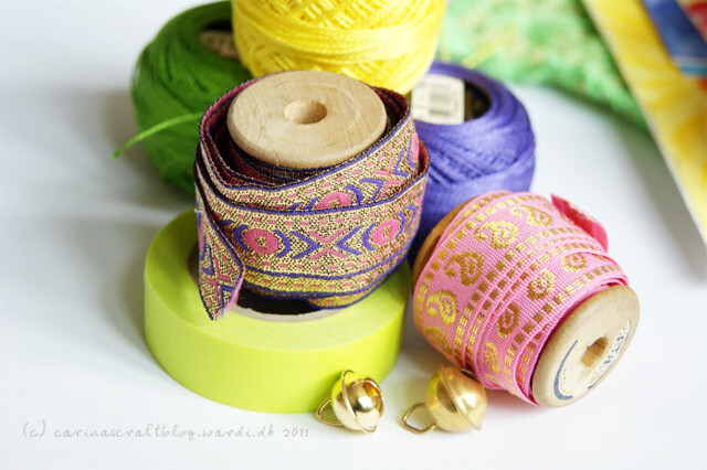 Ribbons, washi tape, pearl cotton