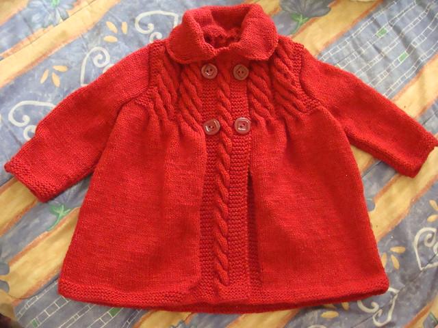 Abrigos para niña tejidos en dos agujas - Imagui