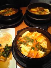 hot pot(0.0), bouillabaisse(0.0), produce(0.0), meal(1.0), curry(1.0), jjigae(1.0), kimchi jjigae(1.0), sundubu jjigae(1.0), food(1.0), dish(1.0), soup(1.0), cuisine(1.0),
