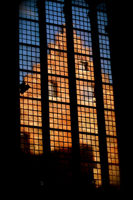 Looking through a church window