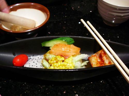 燻鮭魚和風沙拉