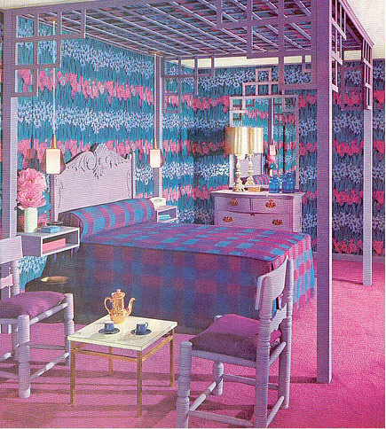 practical encyclopedia pink and purple plaid bedroom